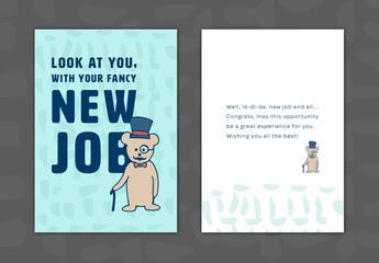 New Job Greeting Card Layout 12