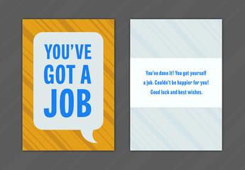New Job Greeting Card Layout 14