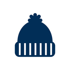 Isolated Beanie Icon Symbol On Clean Background. Vector Knitted Hat Element In Trendy Style.