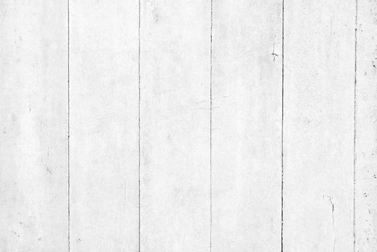 Distressed and rustic white paint wood background