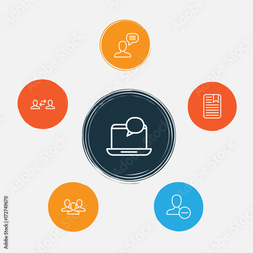 Communication Icons Set Collection Of Connect Unity Business