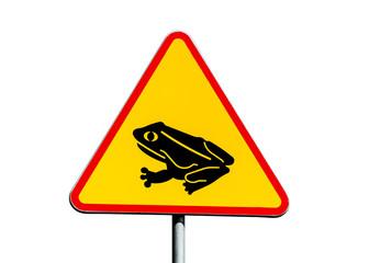 Frog warning sign