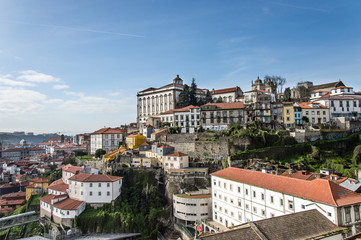 Views of the old town of Oporto, Portugal