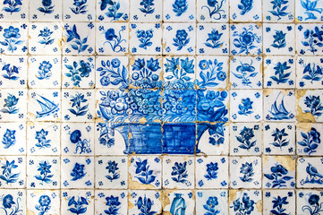 Old Tiles Backgound in Oporto