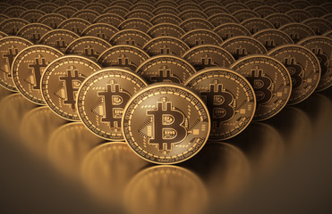 Many Gold Virtual Coins Bitcoins