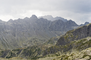 Stormy clouds in the High Tatras mountains