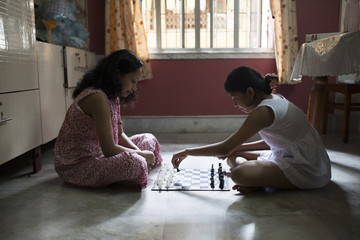 Indoor Chess Playing