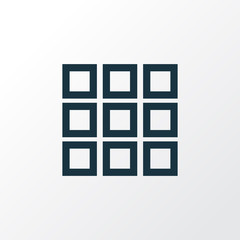 Application Outline Symbol. Premium Quality Isolated Apps Element In Trendy Style.
