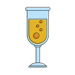 champagne glass icon image vector illustration design