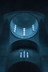 Geometric detail of othodox church dome