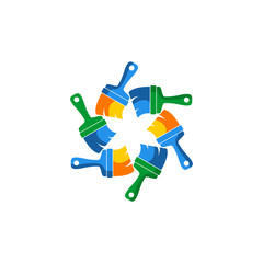 paintbrush vector icon logo