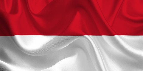 Waving flag of the Indonesia. Indonesian Flag in the Wind. Indonesian National mark. Waving Indonesia Flag. Indonesia Flag Flowing.