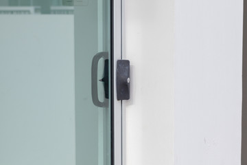 door handle of the modern house