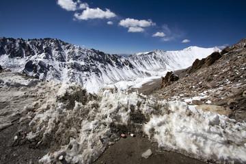 Snow at Khardungla Pass(18400 ft) in Ladakh,India