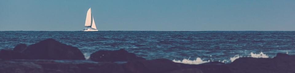 Sailboat on Atlantic Ocean