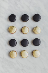 French Golden Macarons