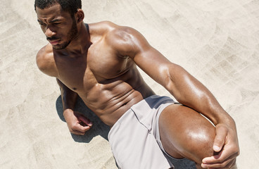 Fit African American Male