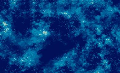 冬の夜空 背景素材(水彩風)