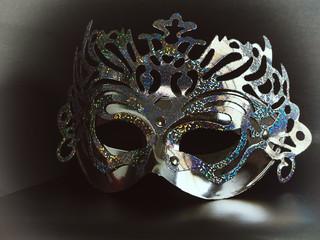 Silver mask Beauty fashion.