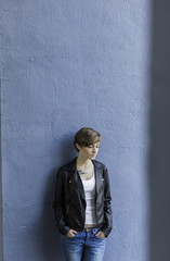 young lesbian woman on the street