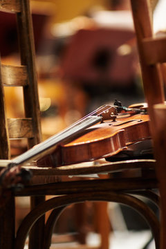 Violin on chair