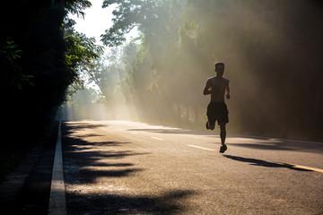 Man running in the morning