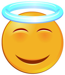 Holy yellow emoji vector image