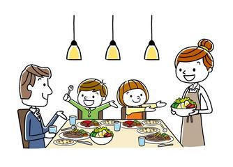 家族:食事、食卓、夕食