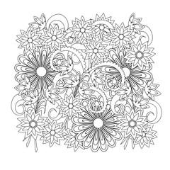 floral boho composition