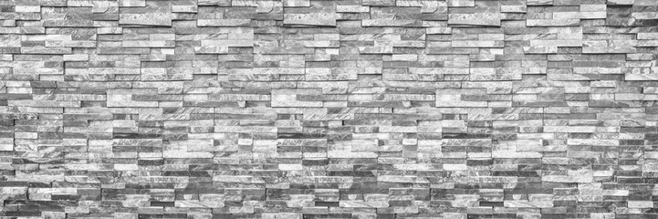 Poster Brick wall horizontal modern brick wall for pattern and background