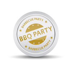 Bbq party icon. Barbecue party. Barbecue stamp. Barbecue rubber stamp. Vector Barbecue stamp. Barbecue Grunge stamp. Roter stempel. Vintage Barbecue Stamps.