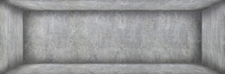 Wall Mural - horizonal empty cement and concrete room with shadow for background and design