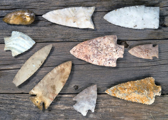 Real American Indian Arrowheads.