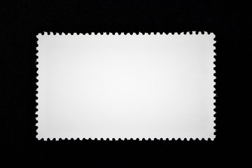 An concept image of a blank stamp, postage