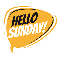 hello sunday retro speech balloon
