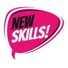 new skills retro speech balloon