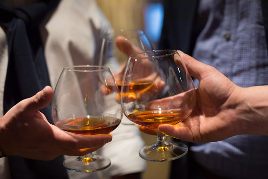 whisky glass in a hand