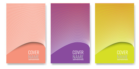 Minimal covers design. Future geometric patterns also useful for your app for smartphones.