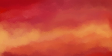 painted background in soft sunrise or sunset colors of red pink yellow and orange