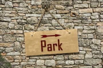 Schild 235 - Park