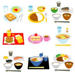 食事 おやつ 間食 白背景