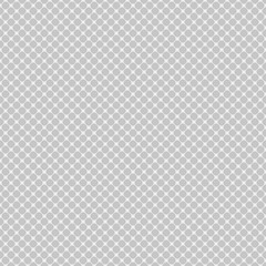 Seamless diagonal mesh pattern of rounded squares on white background. Contrasty halftone grid background. Vector