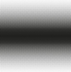 Horizontal seamless Halftone of rounded squares decreases to edge, on white background. Contrasty halftone background. Vector