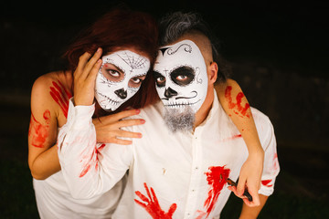 Halloween. Newlyweds. The family ghosts