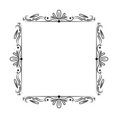 black classic outline vector frame