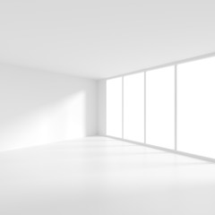 Modern Interior Design. Empty Room with Window. Minimal Abstract Background