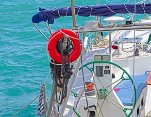 Vintage Frigate sailing