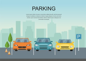 Parking Zone Conceptual Vector Illustration