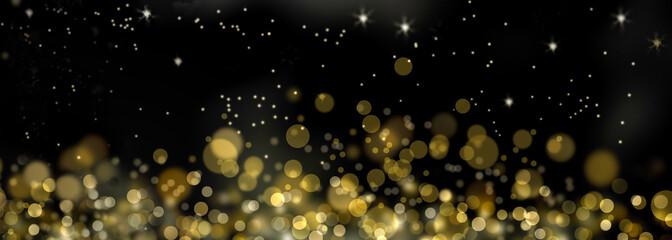 fond de lumières abstraites  dorée dans la nuit  Fototapete