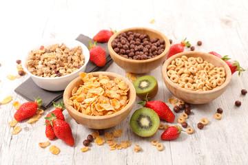 assorted breakfast cereal
